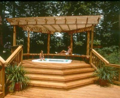 spa and hot tub decking and shading
